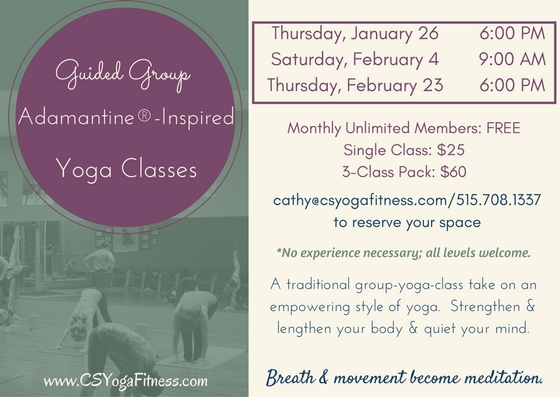 Guided Group Adamantine-Inspired Classes